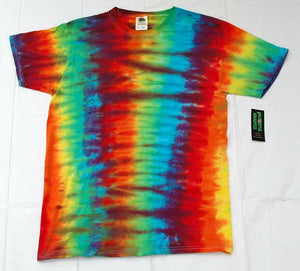 Adult Tie-Dye T-Shirt 100% Cotton - Rainbow Stripe Vertical