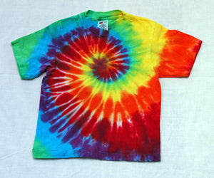 New Youth Tie-Dye T-Shirt - 100% Cotton Rainbow Spiral