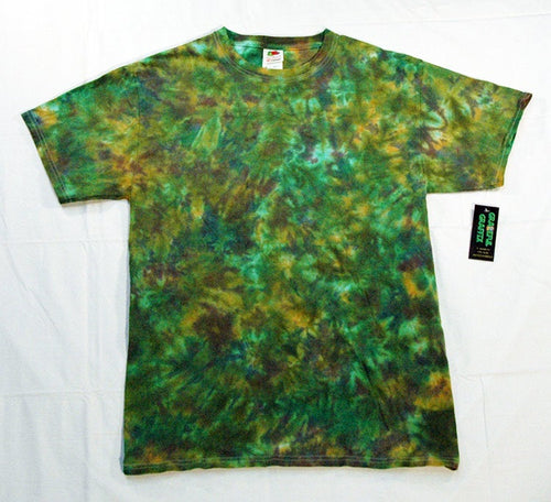 Adult Tie-Dye Short Sleeve T-Shirt 100% Cotton - Camo Camouflage Marble