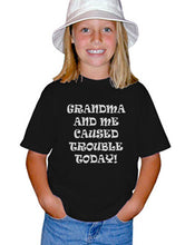 Load image into Gallery viewer, Youth Kids Funny T-Shirt Grandma and Me Caused Trouble Today 100 Percent Cotton