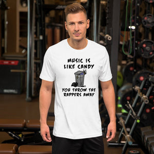 Funny Anti Rap Music Rock and Roll Short-Sleeve Unisex T-Shirt