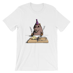 The Birthday Rat Funny Short-Sleeve Unisex T-Shirt