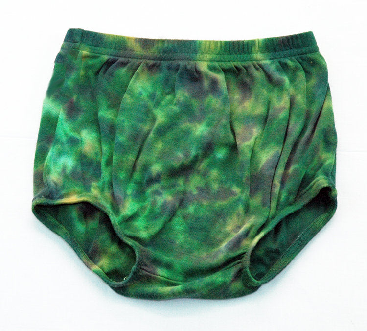 Baby Tie-Dye Infant Diaper Cover Pants - Hand Dyed Soft Cotton Bloomers - Camo Camouflage