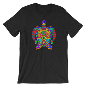 Trippy Colorful Sea Turtle Tortoise Short-Sleeve Unisex T-Shirt