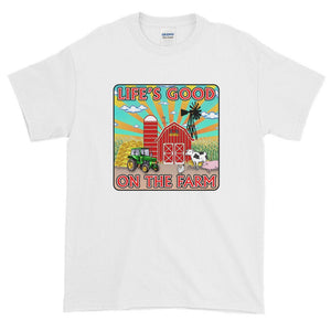 Life's Good On The Farm Fun Country Farmer Ranch Ultra Cotton T-Shirt