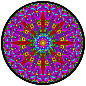Trippy Crazy Colorful Zen Mandala Vinyl Sticker Decal - FREE Shipping