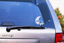Load image into Gallery viewer, Moon Mountains Tent Camping Vinyl Decal Sticker for Cars, Windows, Signs, Etc.