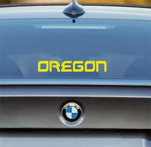 Load image into Gallery viewer, Oregon Decal - Oregon Name Sticker for Cars, Windows, Signs, Etc. in Yellow or Green. Free Shipping