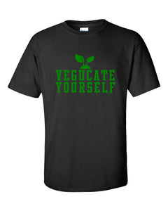 Veducate Yourself Unisex T-shirt - Vegan Vegetarian Plant Based Education