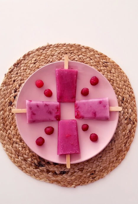 Freeze-Dried Raspberry Popsicles