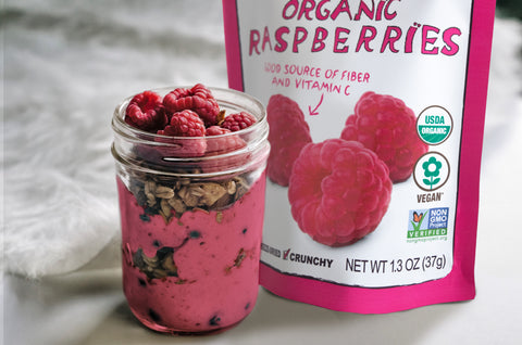 raspberries night oats recipe