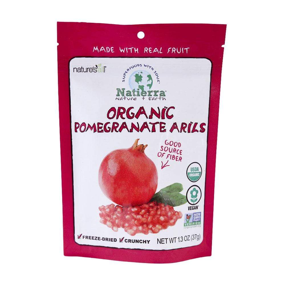 Natierra Organic Freeze-Dried Pomegranate Arils NATPOM1.3 812907014628
