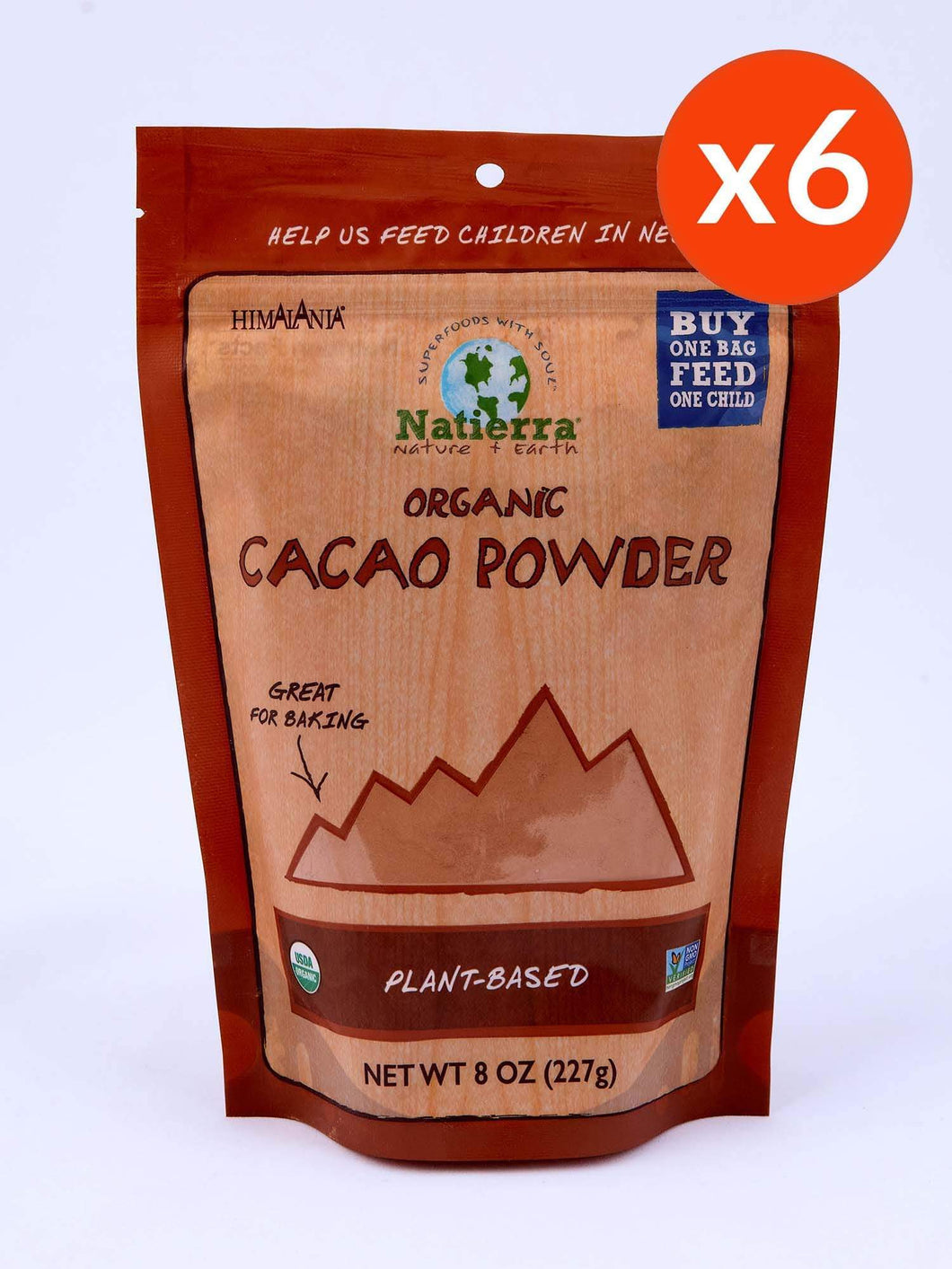 Natierra Cacao Powder Pouch (Pack of 6)