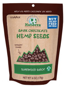 Natierra Dark Chocolate Hemp Seeds HIMHPCD06 812907013133