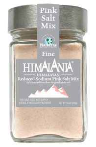Natierra Himalania Reduced Sodium Fine Pink Salt Jar HIMPSLSGJF10 812907013089