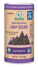 Load image into Gallery viewer, Natierra Organic Black Chia Seeds NATSCSBKO7 812907013645