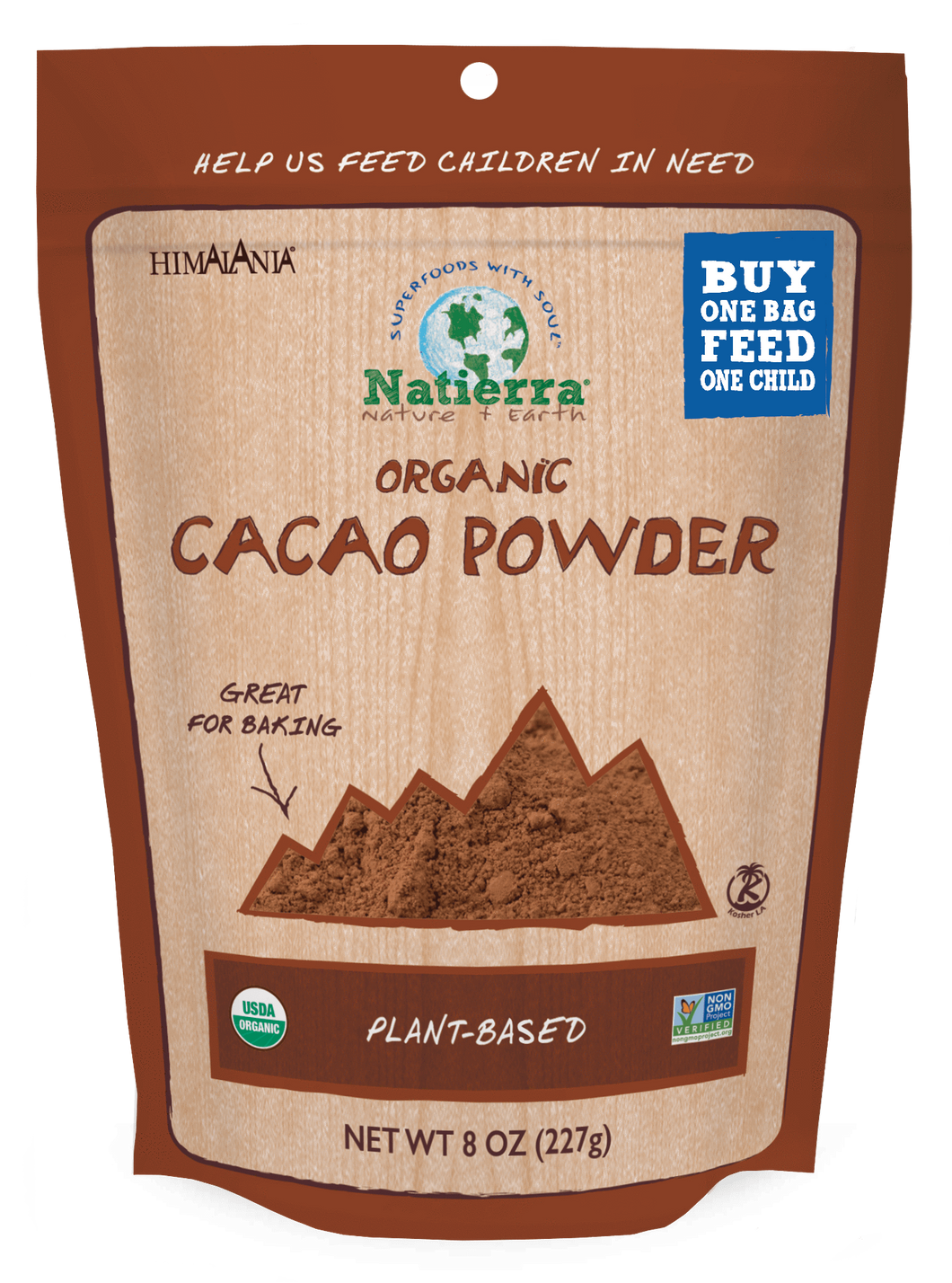 Natierra Organic Cacao Powder Bag NATCPO08 812907014741