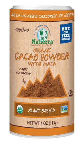 Natierra Organic Cacao Powder with Maca Shaker NATSCPMO4 812907013676