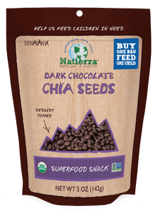 Natierra Organic Dark Chocolate Chia Seeds HIMCSD05 812907013225