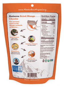 Natierra Organic Dried Mango Cheeks NATMNGCHK8 812907015649