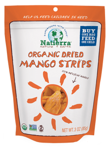 Natierra Organic Dried Mango Strips 3oz NATMNGSTP3 812907015885
