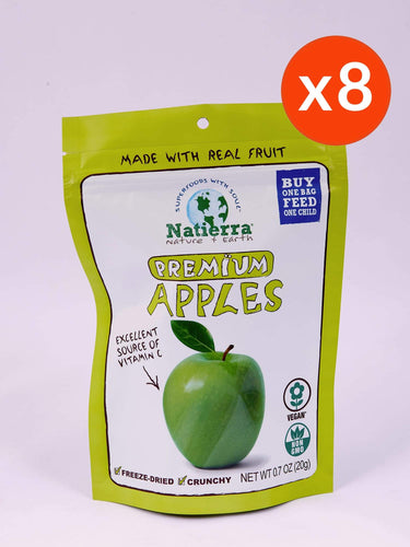 Natierra Premium Freeze-Dried Apple (Pack of 8)