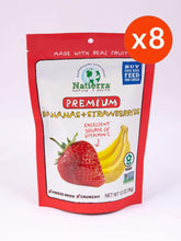 Load image into Gallery viewer, Natierra Premium Freeze-Dried Bananas and Strawberries (Pack of 8)