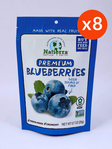 Natierra Premium Freeze-Dried Blueberries (Pack of 8)