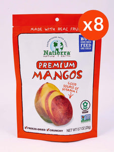 Natierra Premium Freeze-Dried Mangos (Pack of 8)