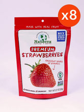 Load image into Gallery viewer, Natierra Premium Freeze-Dried Strawberries (Pack of 8)