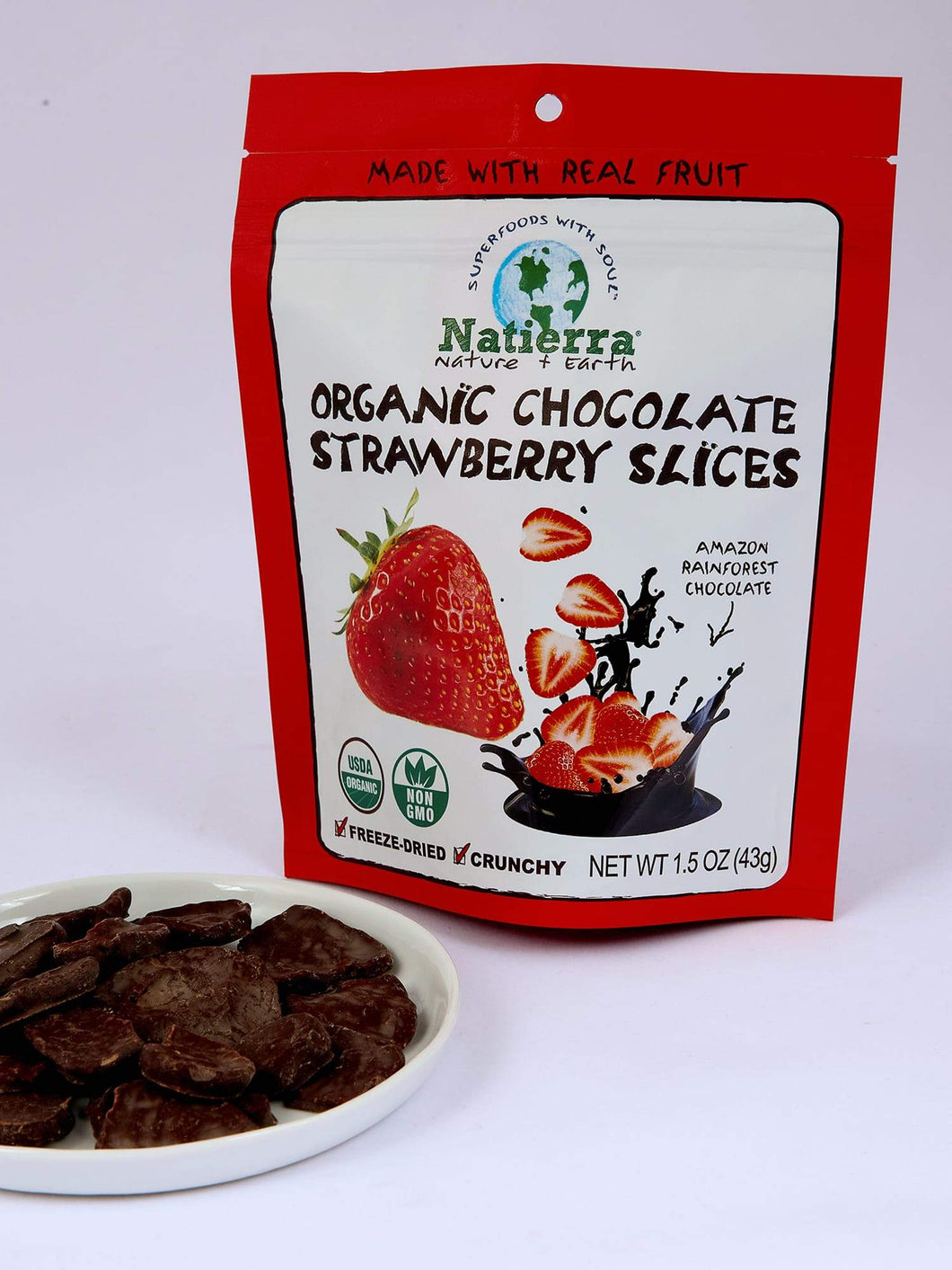 Natierra Dark Chocolate-Covered Snacks NATCDSTRWSLS1.5 812907015137