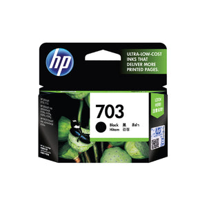HP 703 Original Ink Advantage Cartridge - Black (CD887AA) (4607726878805)