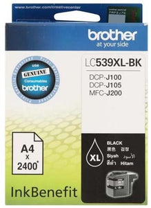 Brother Black Ink Cartridge (LC539XL-BK) (4632346198101)