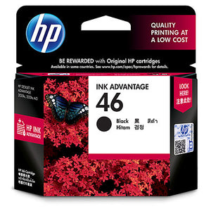 HP 46 Black Original Ink Advantage Cartridge (CZ638AA) (4634140475477)