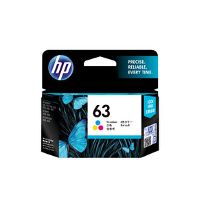 HP 63 Tri-color Original Ink Cartridge (F6U61AA) (4622777286741)
