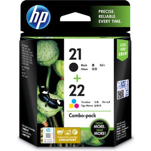 HP 21 Black/22 Tri-color 2-pack Original Ink Cartridges (CC630AA) (4800410124373)