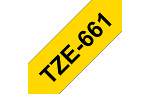 Genuine Brother TZe-261 Labelling Tape Cassette – Black on White, 36mm wide (4785181556821)