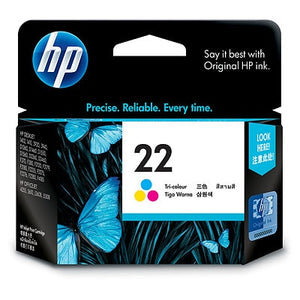 HP 22 Tri-color Original Ink Cartridge (C9352AA) (4800409174101)