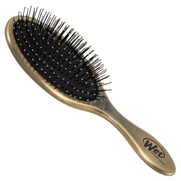 Wet Brush Pro Original Detangler Hair Brush | Antique Gold Metal Finish