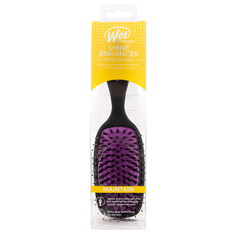 Wet Brush Pro Shine Enhancer Professional Hair Brush | Black