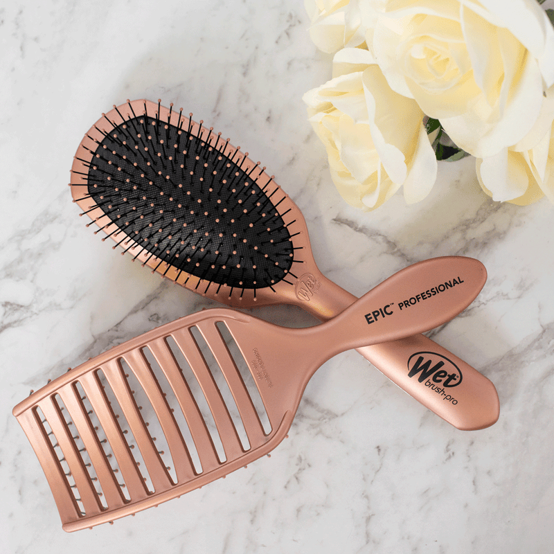 Wet Brush Epic Professional Quick Dry Hair Brush | Rose Gold
