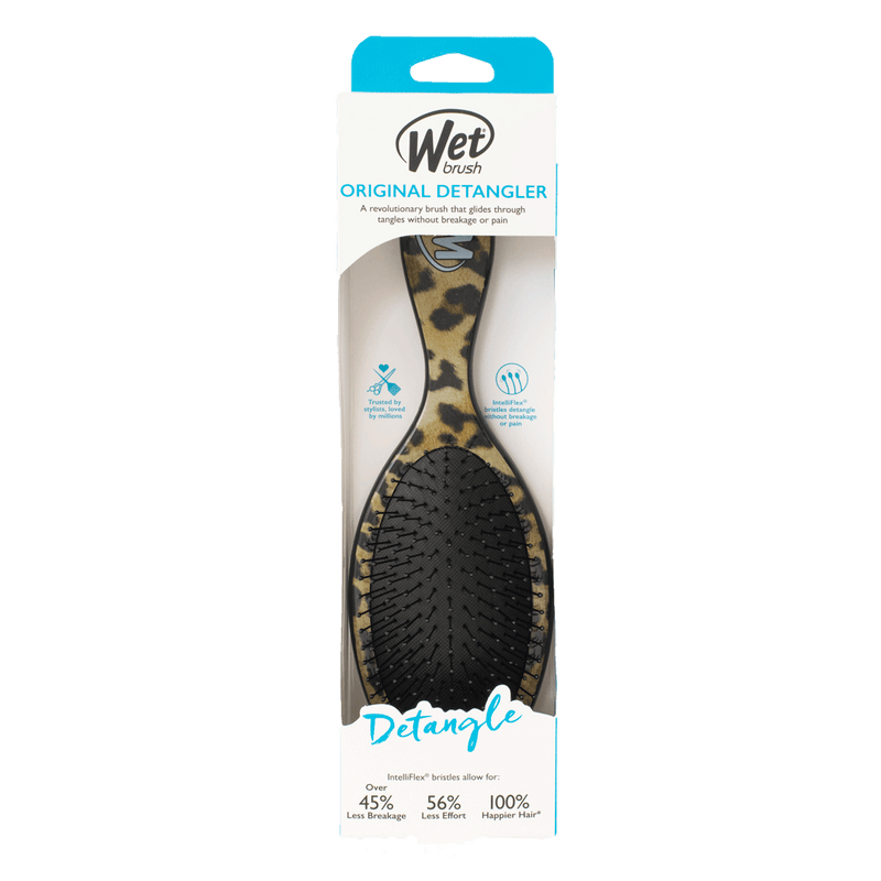 Wet Brush Pro Original Detangler Hair Brush | Safari Leopard