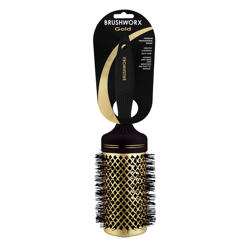 Brushworx Gold Series Hot Tube Hair Brush | X-Large 70mm