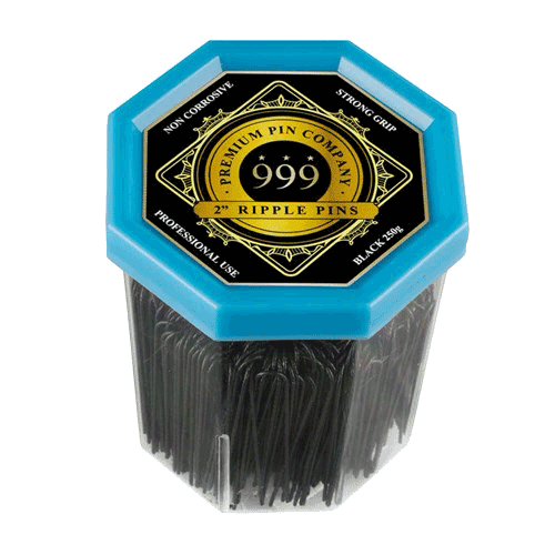 999 Premium Pin Company | 250g Ripple Bun Pins 2″ Black