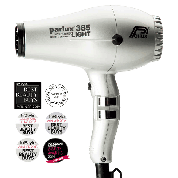 Parlux 385 Powerlight Ceramic and Ionic Hair Dryer | Silver