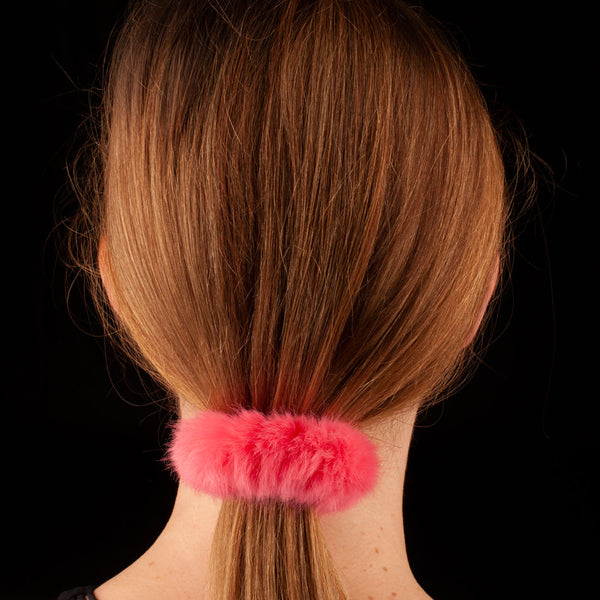 Faux Fur Scrunchie | Candy Pink