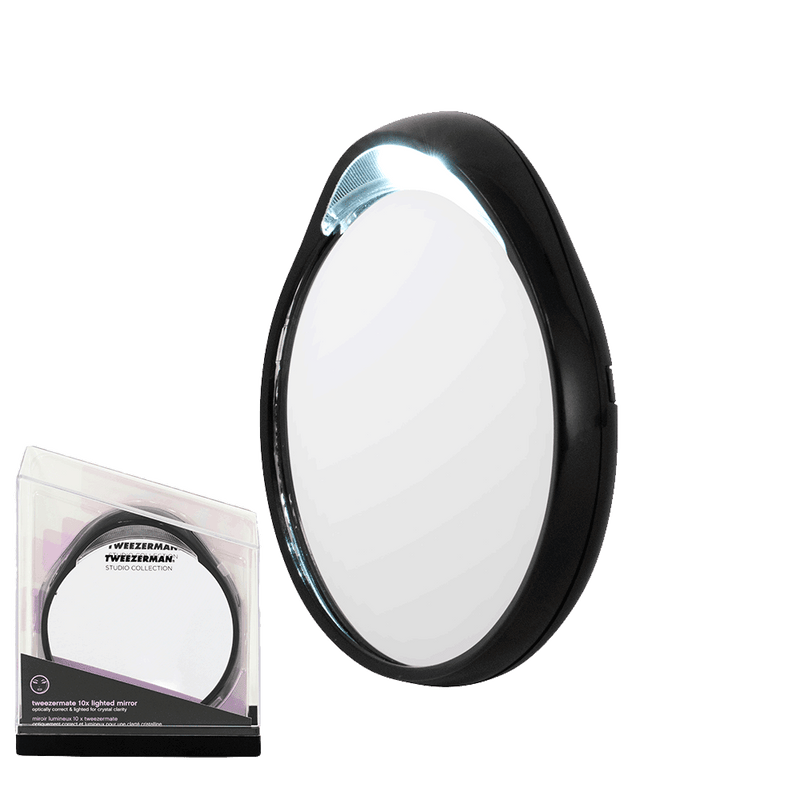 Tweezerman Studio Collection Mirror with Light | 10 x Magnification