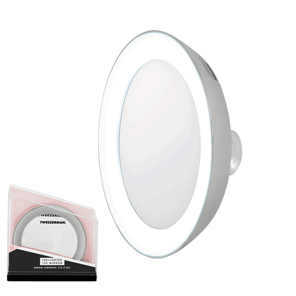 Tweezerman Magnification Mirror with Light | 15 x Magnification