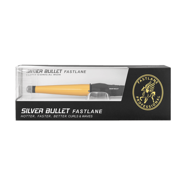 Silver Bullet Fastlane Large Ceramic Conical Curling Iron | Gold | 32mm to 19mm