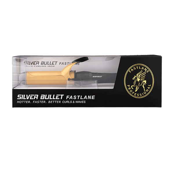 Silver Bullet Fastlane Large Ceramic Curling Iron | Gold | 38mm